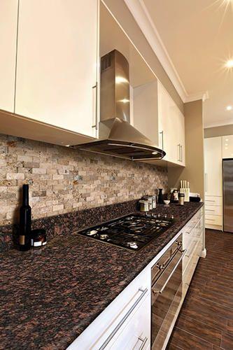 Tan Brown 8 Foot Pre Fabricated Granite Countertop At