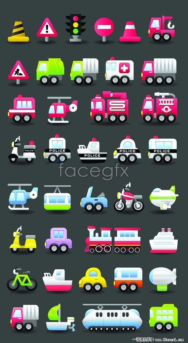 2 transport vector icons