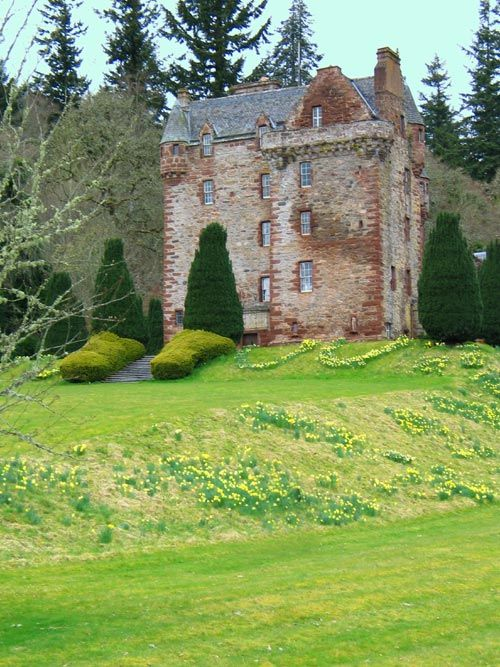 "Castle Leod, home of the MacKenzie Chieftain. This place has  whole tour of all the places in the book ""Outlander"" by Diana Gabaldon."