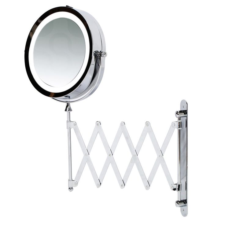 Best 25 wall mounted magnifying mirror ideas on pinterest kenley 7 bathroom extending wall mounted magnifying make up mirror w led light aloadofball Gallery