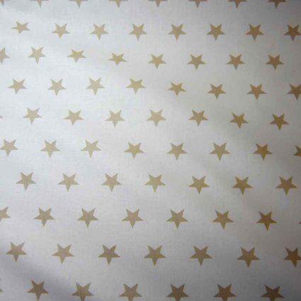 stoff baumwollstoff baumwolle sterne wei beige gro star frankreich k che. Black Bedroom Furniture Sets. Home Design Ideas