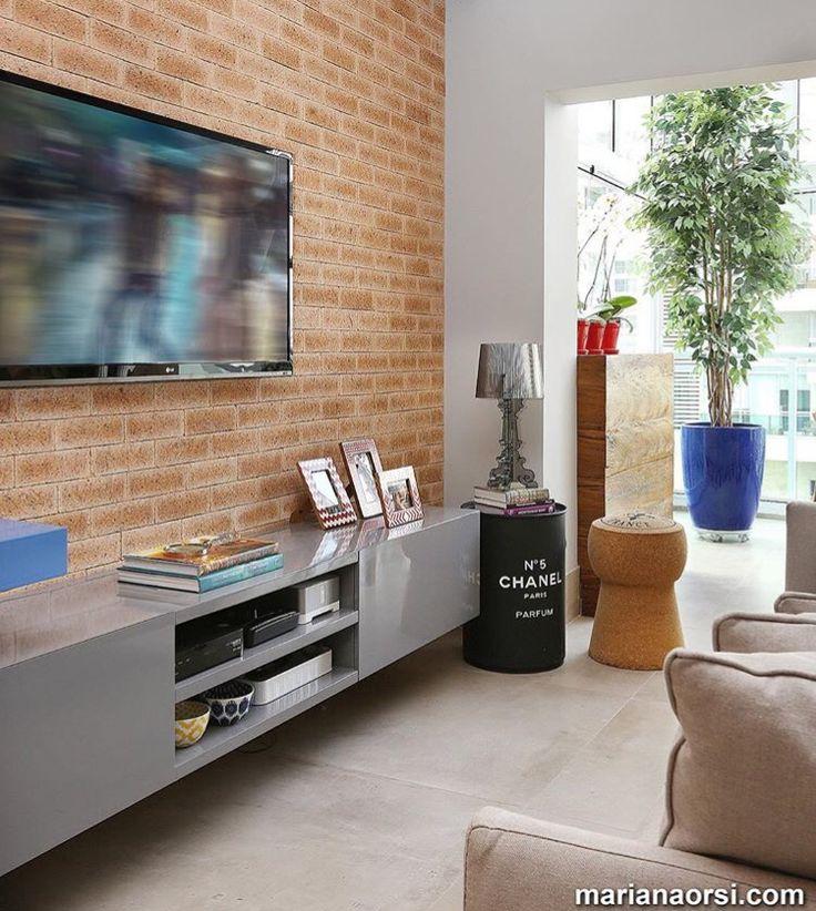 Tv Panel, Marian, Family Rooms, Rack, Rustic Modern, Home Theaters, Studio  Apartment, Living Room, Interior Design