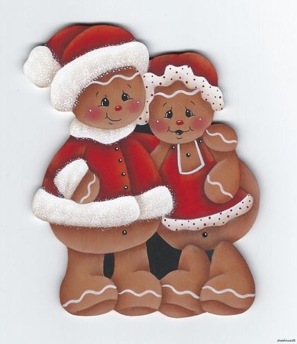 HP Gingerbread Mr Mrs Claus Fridge Magnet | eBay