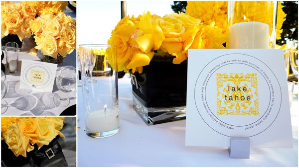 Inspired by This Real Wedding-Yellow and Black Modern Elegance in Santa Barbara | Inspired by This Blog