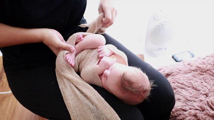 Newborn Posing with Stretch Wrap