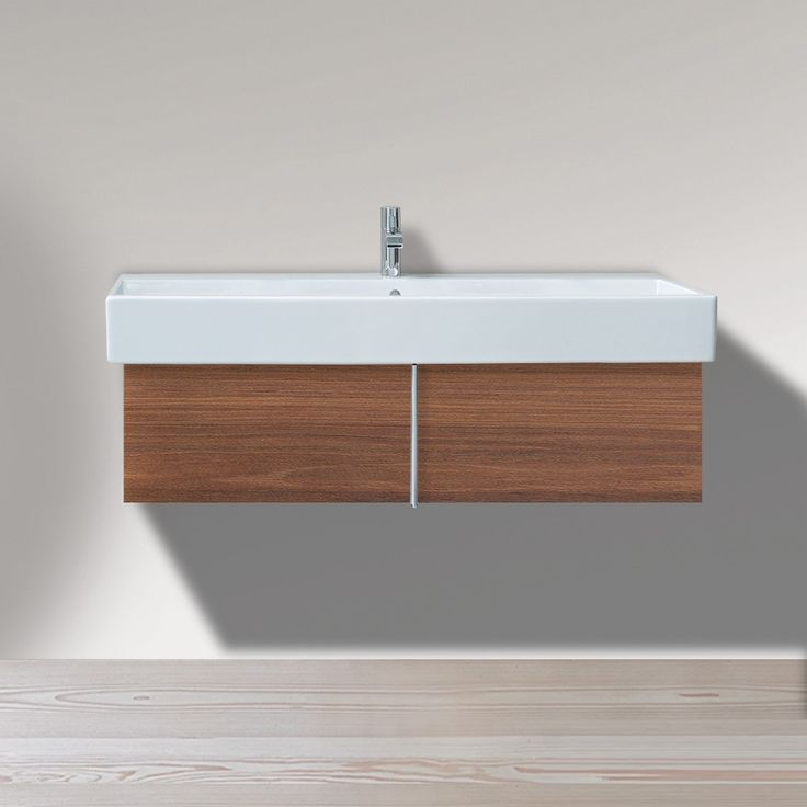 Image On Master Bath Vanity Duravit Vero x Inch Vanity Unit Wall Mounted for Vero Washbasin same sink can be ordered with faucet holes or with no faucet