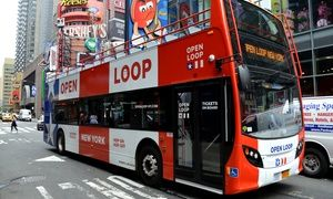 Groupon - All Loops Double Decker Bus Tour Tickets for Four from Open Loop New York (Up to 34% Off)         in Hell's Kitchen. Groupon deal price: $119