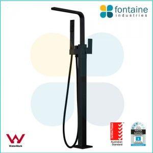 $699 Edward Freestanding Bath Tap  edward-extra-tall-freestanding-bath-mixer-black-handheld-square-S3233