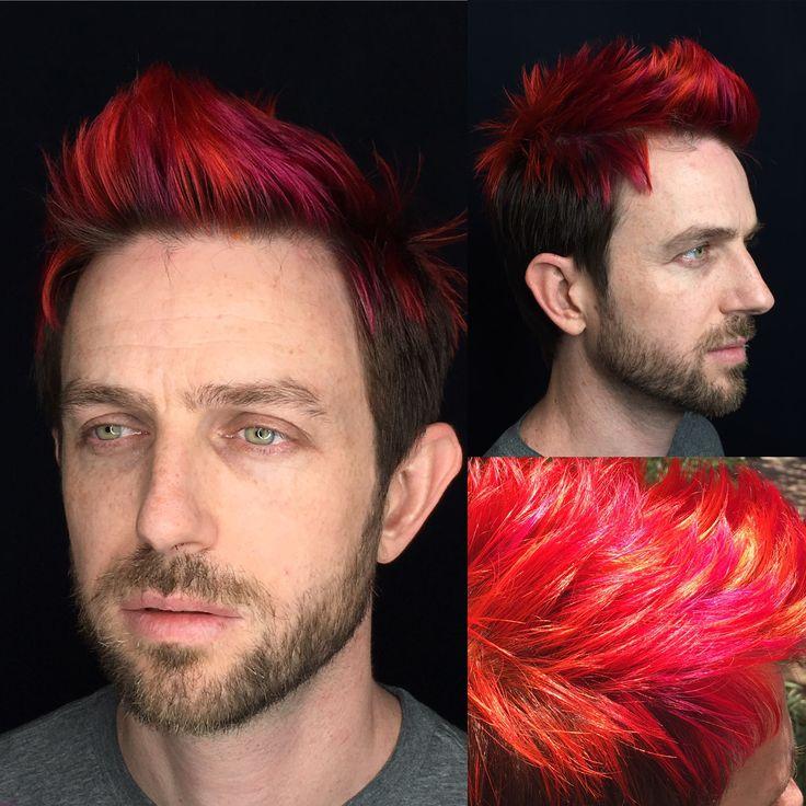 Fantasy color men's hair