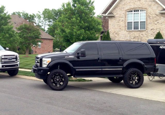 2002 ford excursion limited 7 3 powerstroke diesel front end conversion lifted diesel. Black Bedroom Furniture Sets. Home Design Ideas