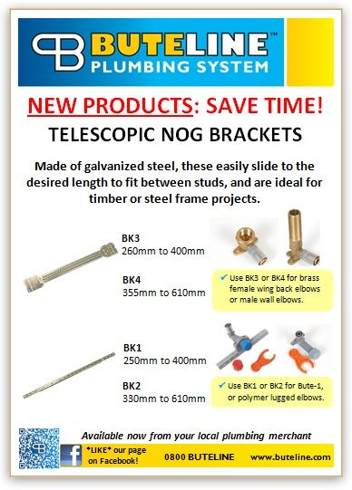 Save time & $$$! Try these Telescopic Nog Brackets -- no more measuring, marking and cutting timber!