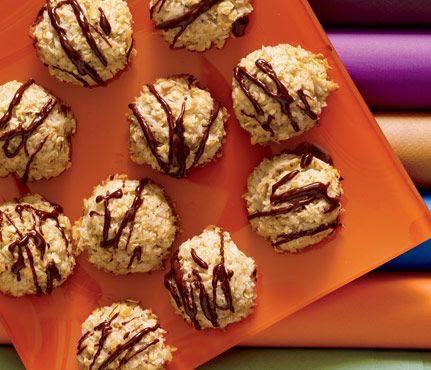 Decadent Desserts—150 Calories and Under! Coconut Macaroons, 52 calories per cookie #SelfMagazine