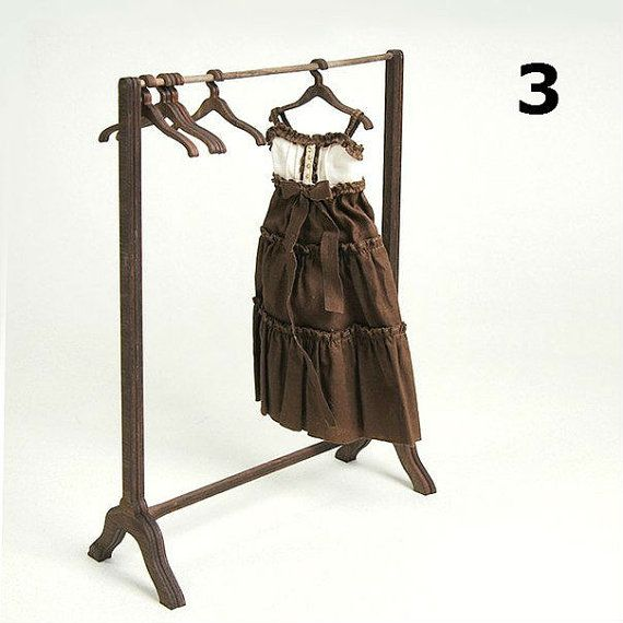 Rack for clothes and a set of hangers size by DreamStudioDollHouse