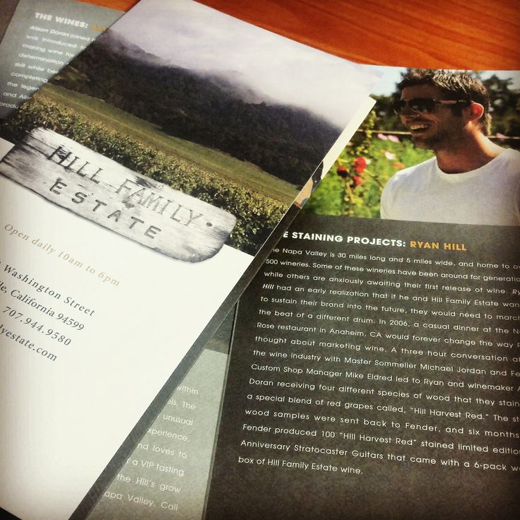 This is a brochure we printed up for Hill Family Estate that is full of information on the wines, vineyards and more. #hillfamilyestate