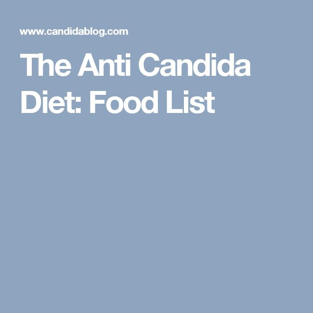 The Anti Candida Diet: Food List