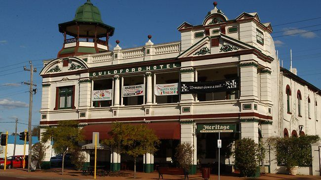 Guildford Hotel almost rebuilt after being gutted by fire.