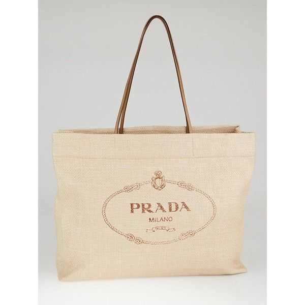 e1529bbc8672 Prada Beige Raffia Beach Tote Bags | Stanford Center for Opportunity ...