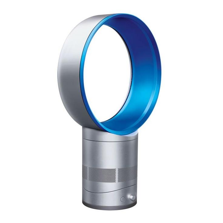 Ventilateur design sans pales flux d'air continu 25cm Air Multiplier AM01 Bleu et silver DYSON