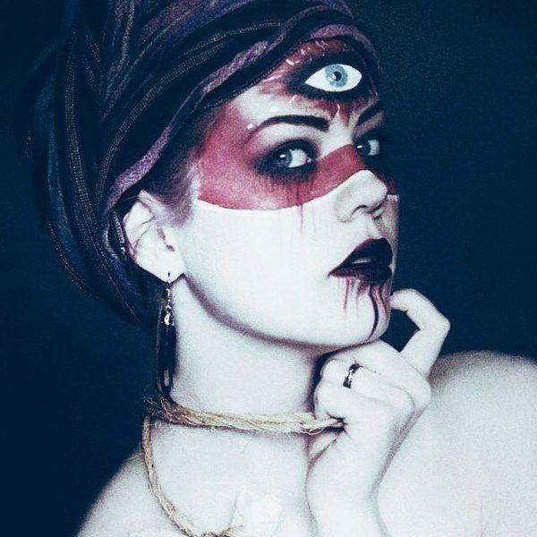 Pinterest: @MagicMatriarch #halloween #halloweenmakeup #voodoopriestess