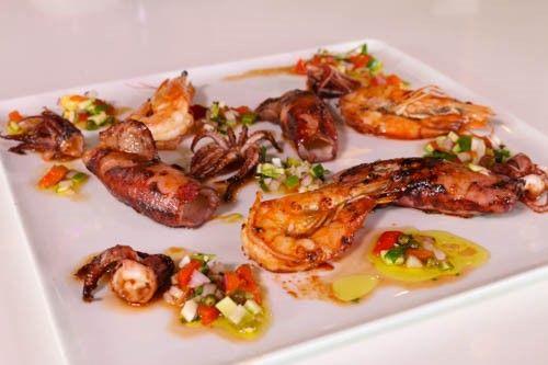 Lidia Bastianich-Episode 1402: Calamari Alla Griglia with Shrimp, Salsa Verde and Grilled Bread