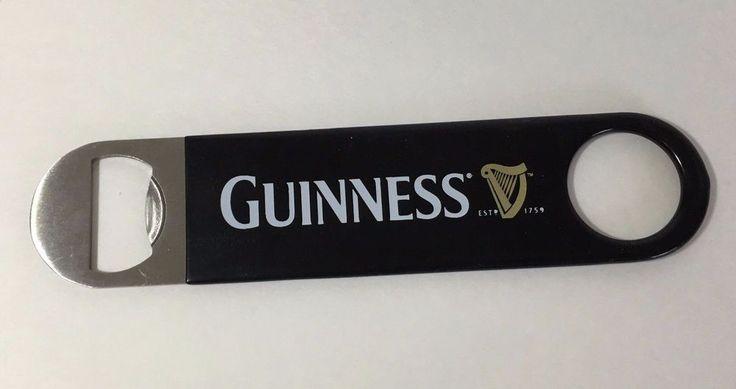 Guinness  Bartenders Bottle Opener Black Gold White Barware Gift #Guinness