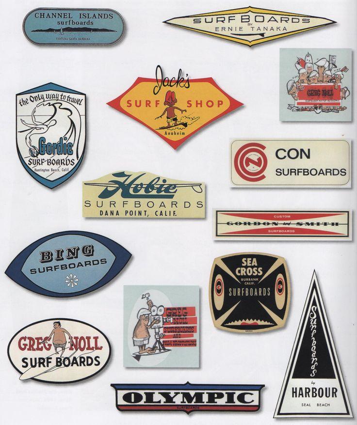 Old Surf Logos,Shops.                                                                                                                                                                                 More