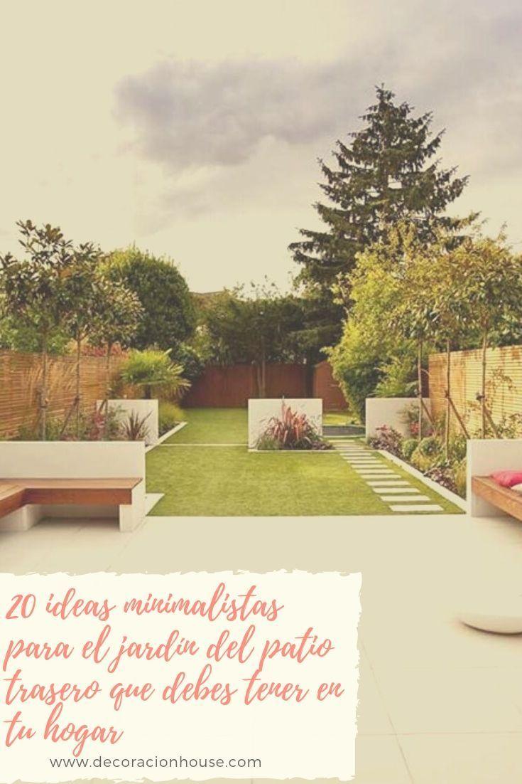 20 ideas minimalistas para el jardín del patio trasero que debes tener en tu hogar
