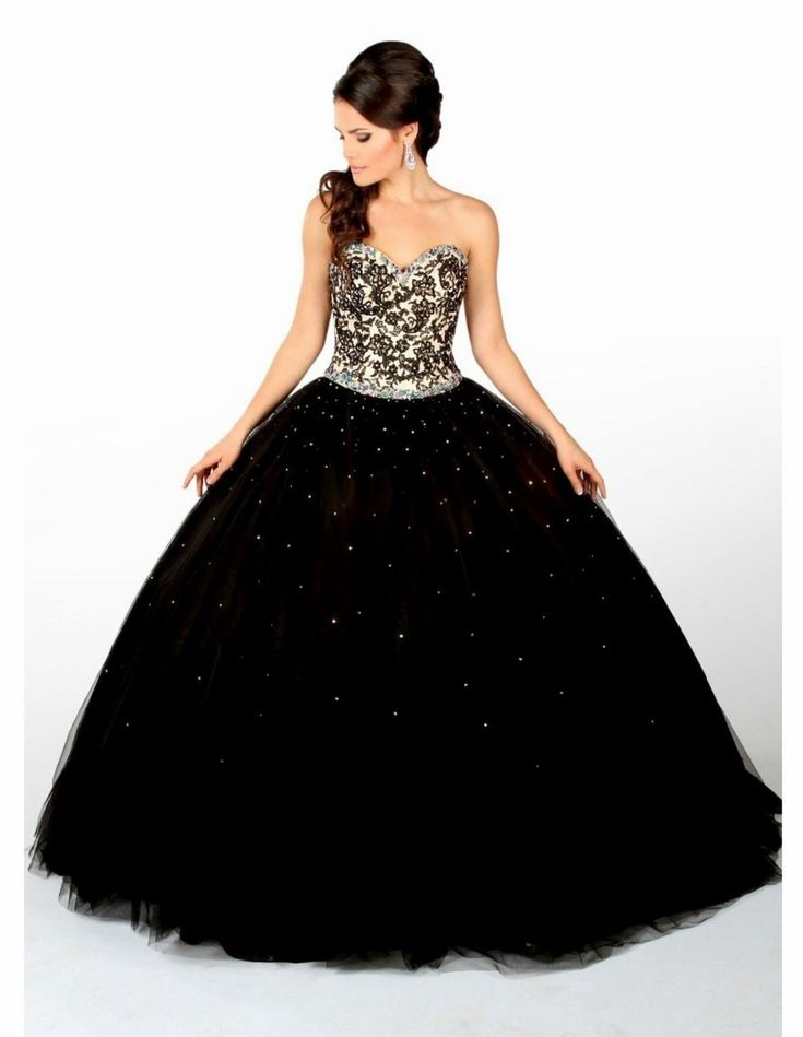 Party Dresses Quinceanera Dress Vestidos De 15 Anos Lace Puffy 2017 Black Sweet 16 Gril masquerade ball gowns