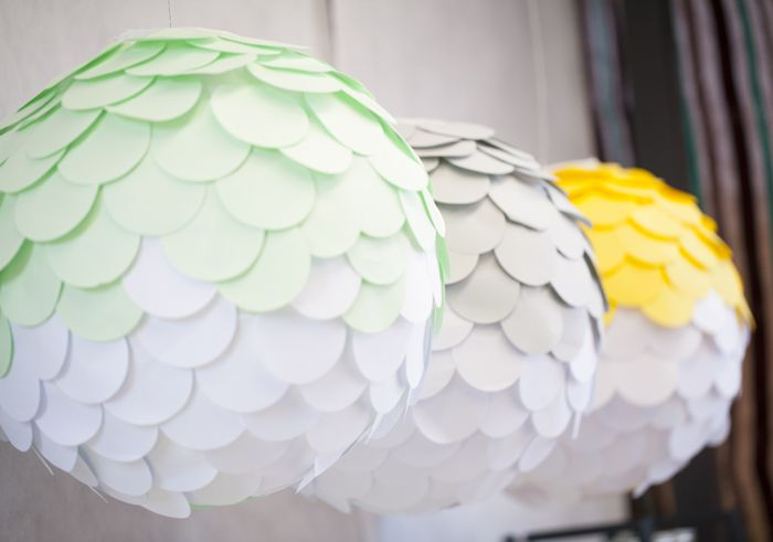 Paper fish scales add a unique element to these lanterns. Perfect for