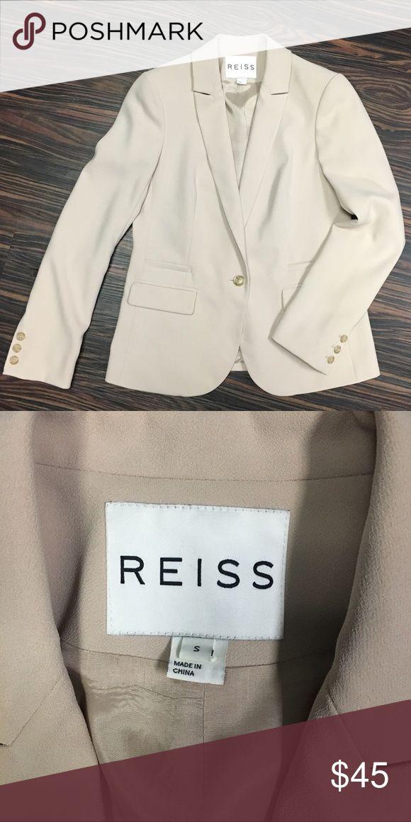 Reiss suiting blazer Gorgeous Reiss suiting blazer, in a soft warm tan. Reiss Jackets & Coats Blazers