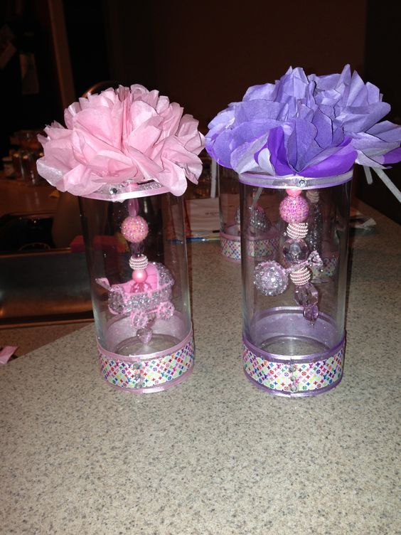 diy tulle centerpiece for girls baby shower baby shower rh pinterest com baby shower decorations for a girl at party city baby shower decorations for a girl at party city