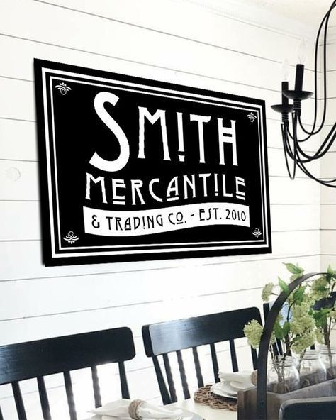 personalized last name sign modern farmhouse wall decor in 2019 rh pinterest com