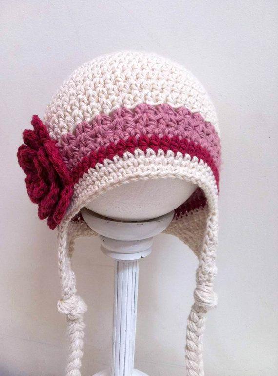 Crochet Hat Pattern - Easy Peasy Earflap Hat Crochet Pattern No.603 Unisex Emailed2U NINE Sizes from Newborn to Adult. $4.00, via Etsy.
