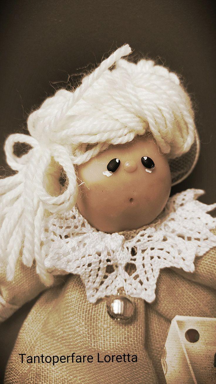 Angelo in tessuto e ceramica - Collezione My Angel : Cameretta bambino, bebè di tantoperfare-loretta