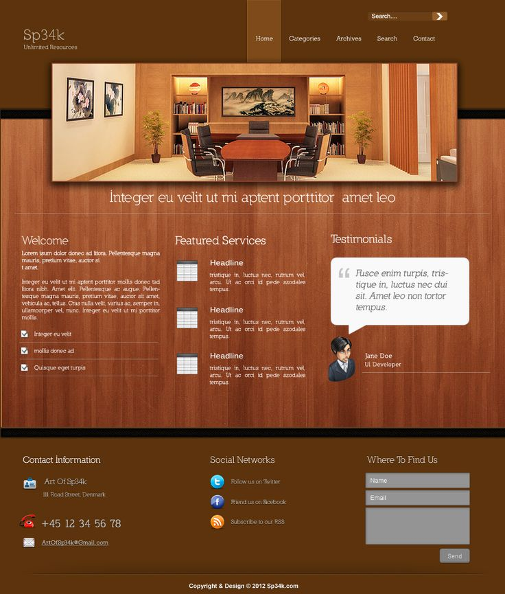 20 best images about website psd templates on pinterest
