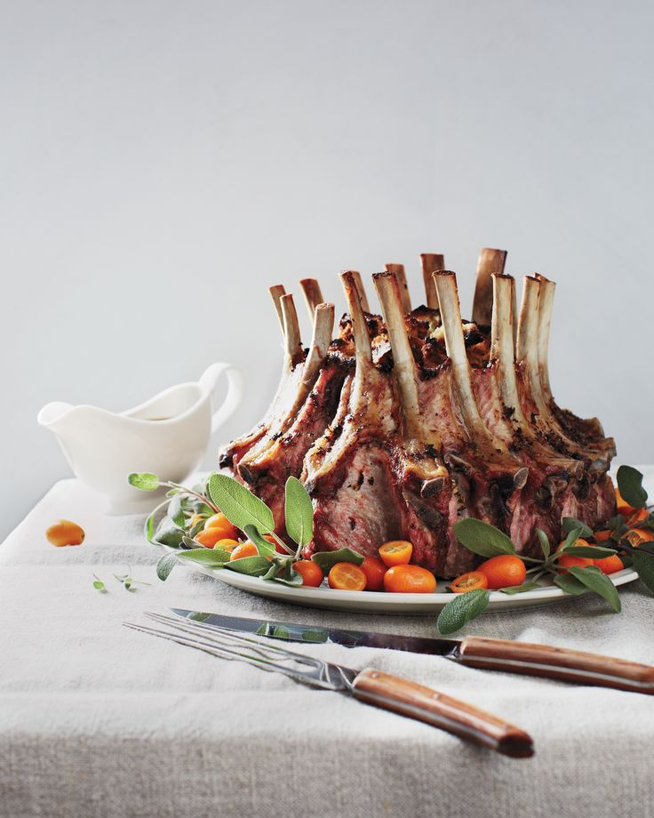 A holiday dinner is your chance to pull out all the stops. See Crown Roast of Pork 101 for step-by-step instructions on making this majestic centerpiece.