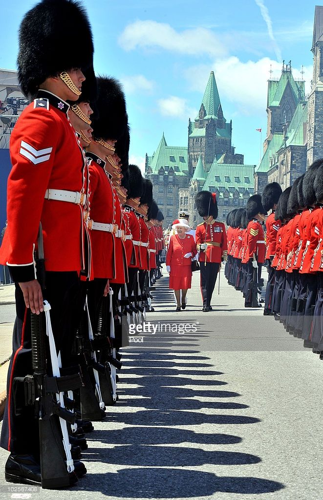 Canadian Map Before Confederation%0A Queen Elizabeth II inspects a Guard of Honour outside the Canadian  Parliament  after arriving to attend the Canada Day celebrations on July