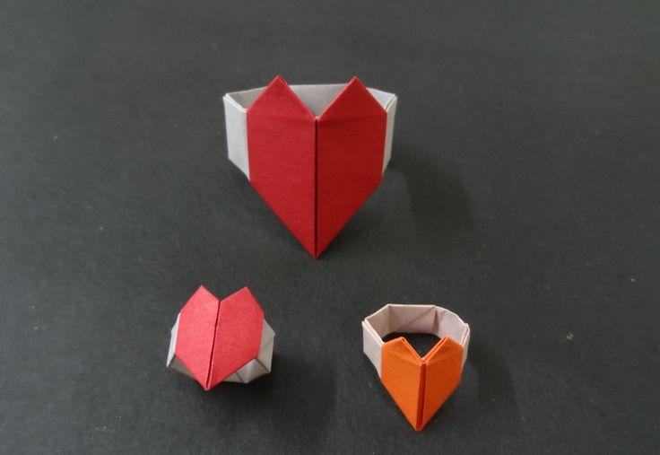 Origami Heart Tutorial: How to fold an Origami Heart Bracelet
