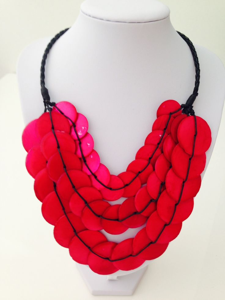Beautiful pink triple layer shell necklace $15, go to www.melikeshoes.com.au (We always do free shipping)