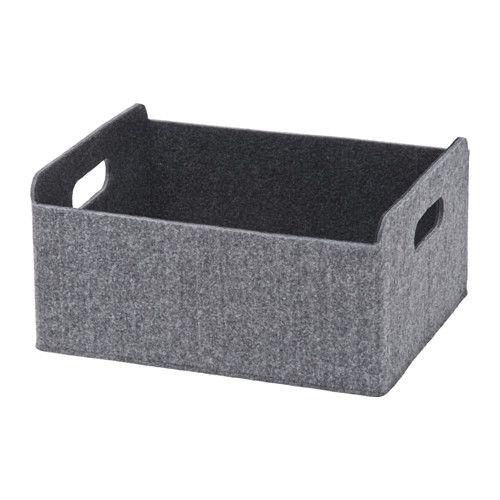 BESTÅ Box, grey grey 25x31x15 cm