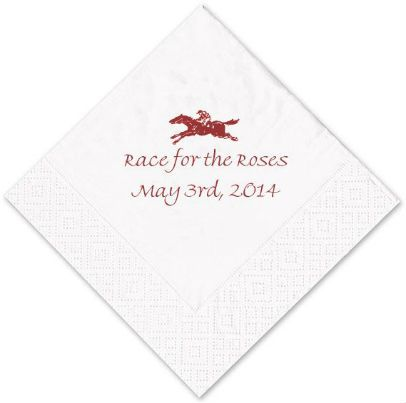 Race for the roses! These @Anne Caspari napkins can be personalized for your Kentucky Derby party | FineStationery.com