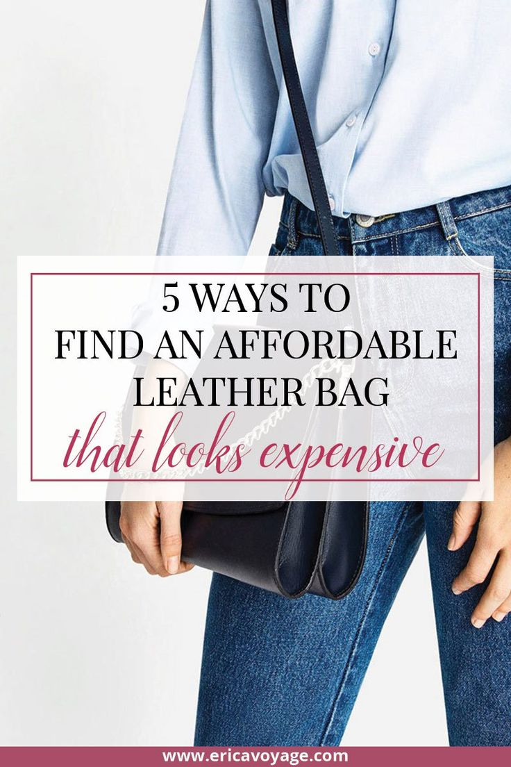 It's not easy to find an Affordable leather bag, for this reason today I will talk about 5 ways to find an affordable leather bag that looks expensive.