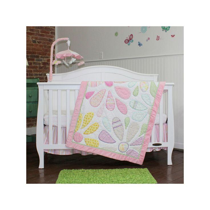 Nurture Crazy Daisy 3-pc. Nursery Bedding Set, Pink