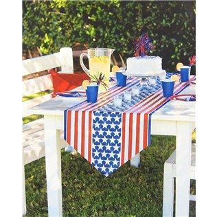 Americana Table Runner Shops, Hobby lobby and Blue