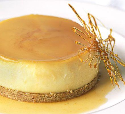 Orange crème caramel cheesecakes   www.bbcgoodfood.com