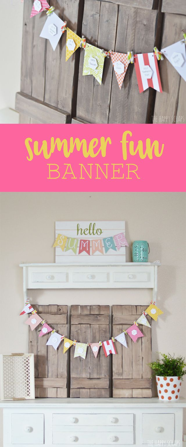free bridal shower printable banner%0A Make sure you have some fun this summer with this Summer Fun Banner  It u    s  simple