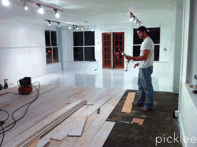 Using plywood (YES, PLYWOOD) for your wood floors. Super cheap, kind - 32 Best Images About Paint Wood Floor Project On Pinterest