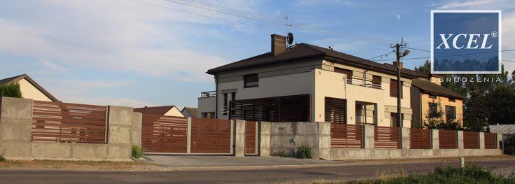 nowoczesne ogrodzenie z betonu architektonicznego xcel horizon wood cubero