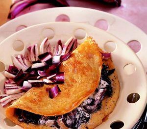Omelette al radicchio