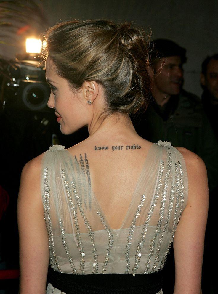 Tatuagens Angelina Jolie